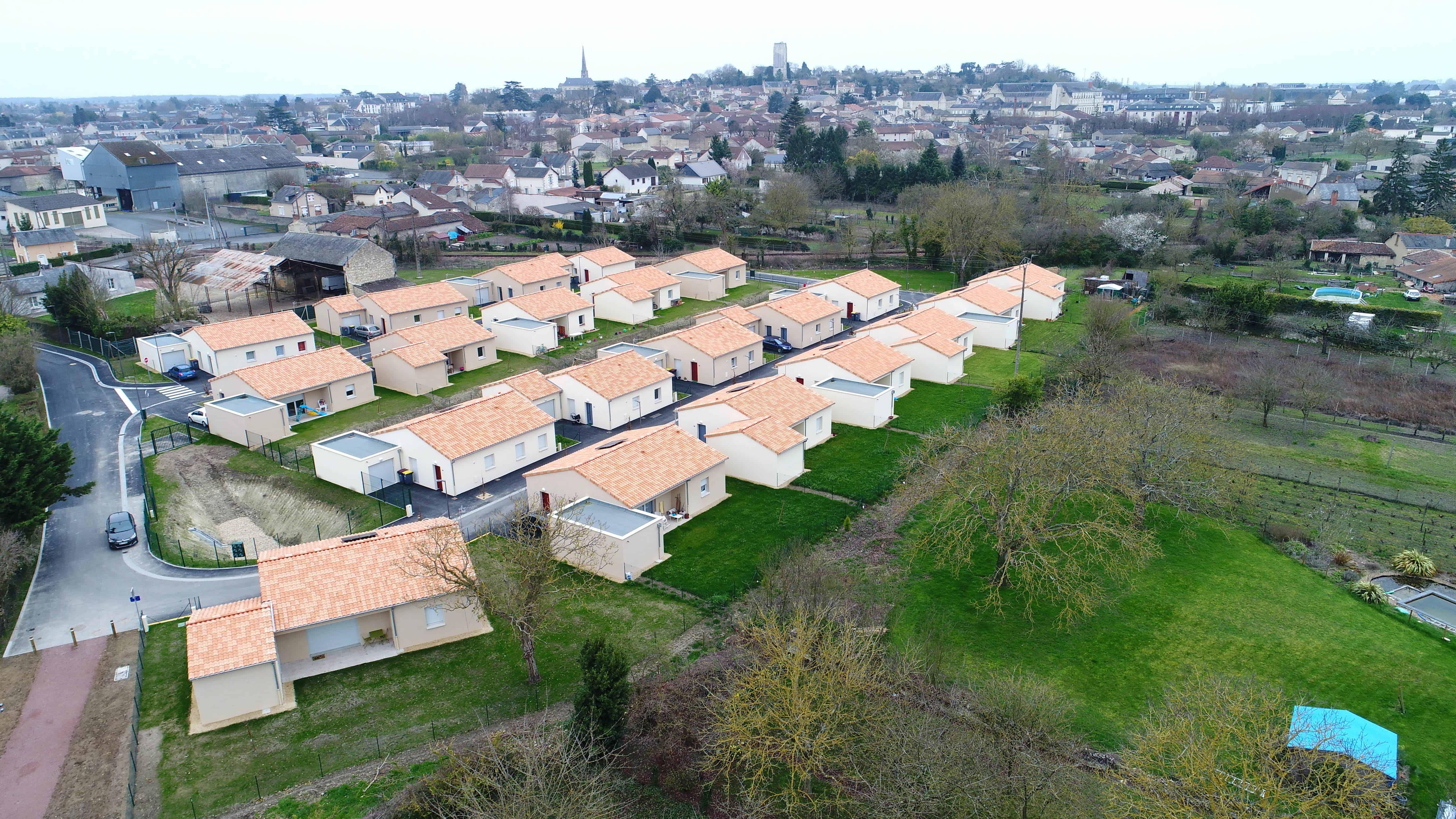 images de lotissements pour habitat de la vienne drone