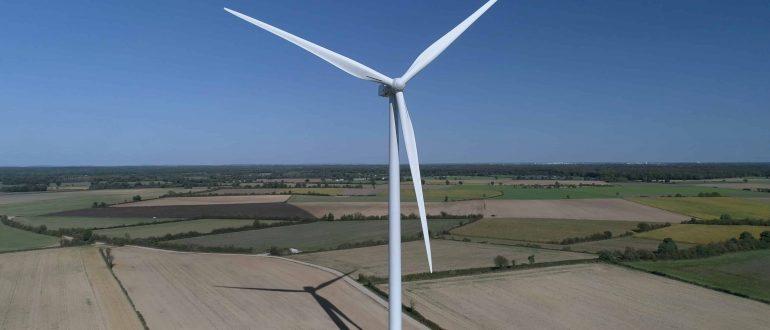 Prises de vues des éoliennes SERGIES