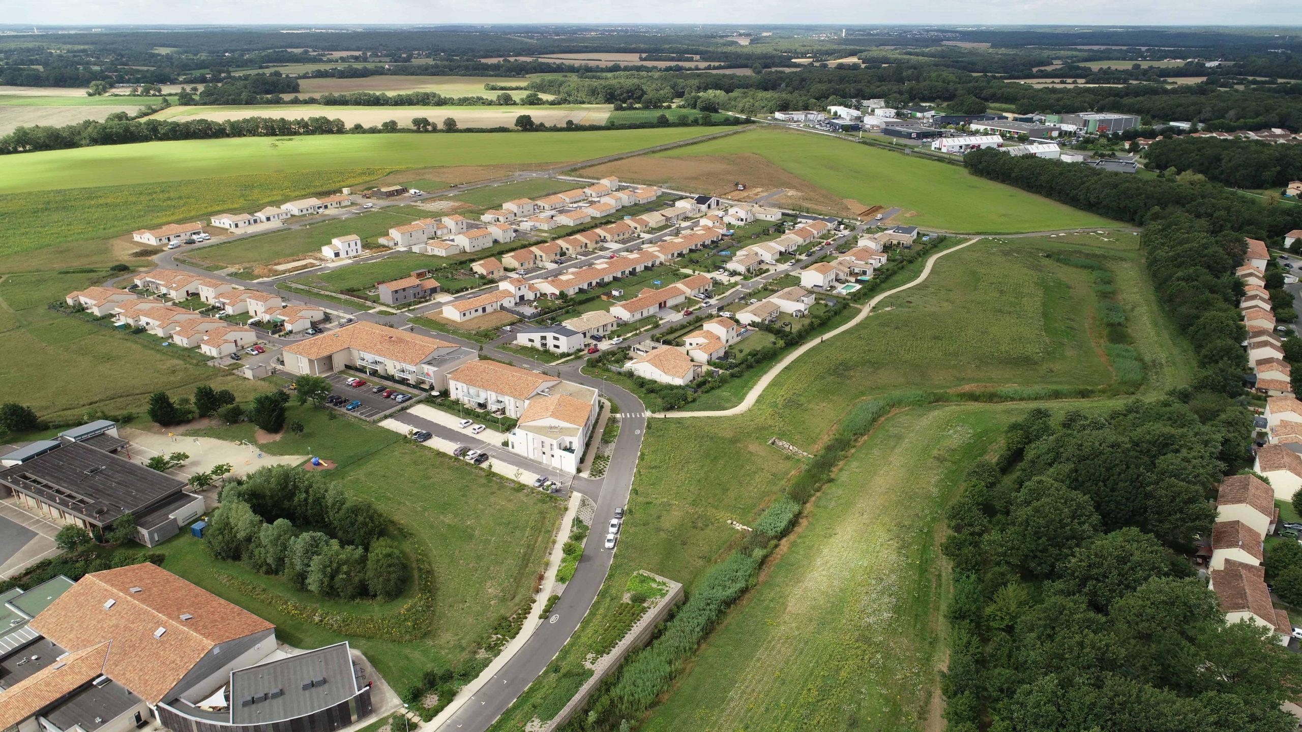photos en drone de la ZAC des Magnals (86) pour la SEP.