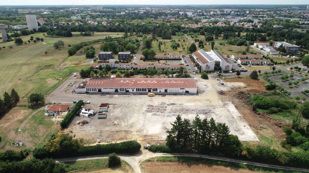 photo aérienne de chantier à poitiers 86